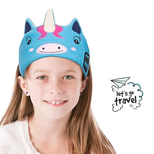 Kids Headphones - Lavince Wireless Headphones Headband Bluetooth V4.2 Sleep Headband with Microphone Adjustable Soft Fleece Headband Headphones for Kids School Home Travel
