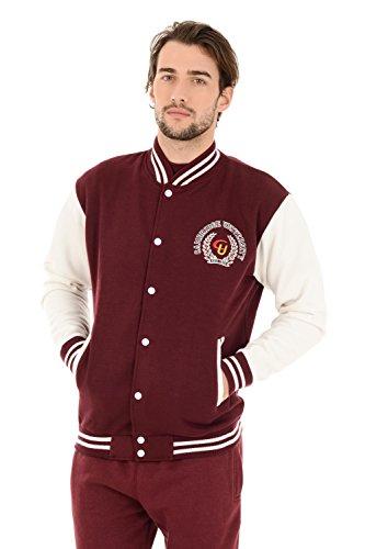 Cambridge University Offizielle lizenzierte applizierte bestickte Baseball Souvenir Jacket (S, Burgund)