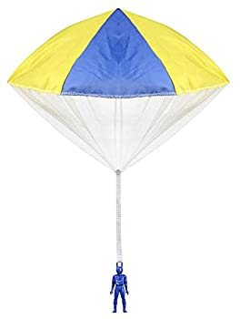 Aeromax Original Tangle Free Toy Parachute has no strings to tangle and requires no batteries Simply toss it high and watch it fly!