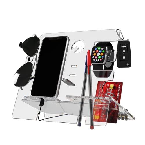 Tooby Organizer Multifunzione da Scrivania - Svuotatasche Ingresso Design - Portapenne e Accessori da Scrivania - Portaoggetti con Supporto Smartphone