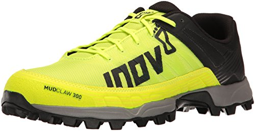 Inov-8 Men's Mudclaw 300 Trail Running Shoe, neon Yellow/Black/Grey, 6 C US