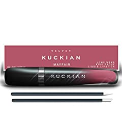 LASTS 12 HOURS ⭐ LUXURY VEGAN ⭐ 100% KISS PROOF ⭐ CRUELTY FREE ⭐ BEST SELLER. Formula dries within 60 seconds and feels weightless. Join thousands who have fallen in love with Mayfair, a Liquid Velvet Supremé Collection by Kuckian. VEGAN and CRUELTY ...