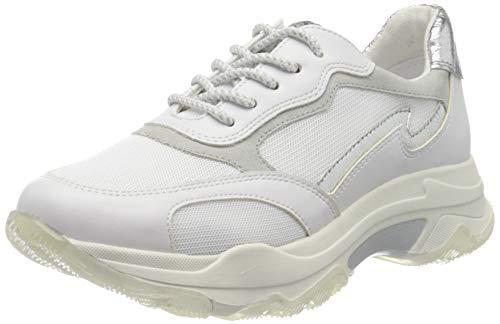 Marco Tozzi 2-2-23707-34, Zapatillas Mujer, Multicolor (White/Silver 191), 38 EU