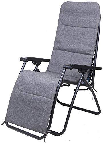 N /A Sillones reclinables sillones tumbonas al aire libre suave fácil de usar Almohada para cojín ajustable de cabeza extraíble multiposición (color: almohadilla de algodón azul)