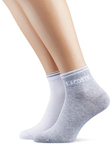 Lacoste Sport Herren Ra8495 Socken, Grau (Argent Chine/Blanc), 46 (Herstellergröße: 6) (2er Pack)