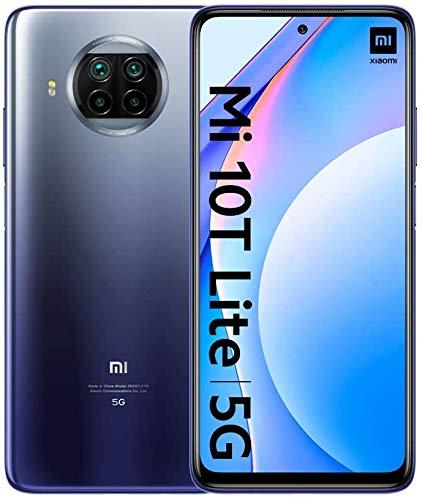 Xiaomi Mi 10T Lite 5G - Smartphone 6+128GB, 6,67'' FHD+ DotDisplay, Snapdragon 750G, Cámara cuádruple de 64 MP con IA, 4820 mAh, Azul Atlántico (Versión oficial), con Alexa Hands-Free