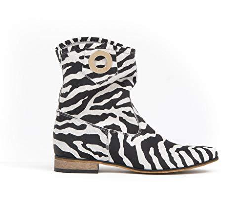 Zapato Damen Lederstiefel Modell 270, - zebra - Größe: 40.5 EU