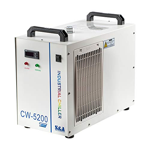 Cloudray S&A Industrial Water Chiller 110V CW5200DH (Upgraded 5200DG) Laser Chiller For CO2 Engraving Cutting Water Cooling Shipping from US Duty Free