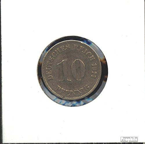 Deutsches Reich Jägernr: 13 1900 F sehr schön Kupfer-Nickel 1900 10 Pfennig Großer Reichsadler (Münzen für Sammler)
