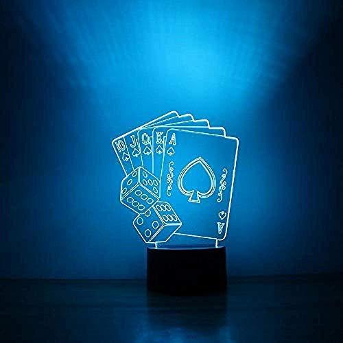 Creatieve LED USB visual voor kinderen speeltafel baby slapen speelkaarten lamp huisdecoratie touch