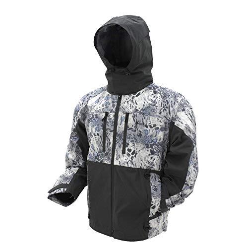 FROGG TOGGS Men's Pilot II Guide Waterproof Breathable Rain Jacket, Silver Mist, Large (PF63161)