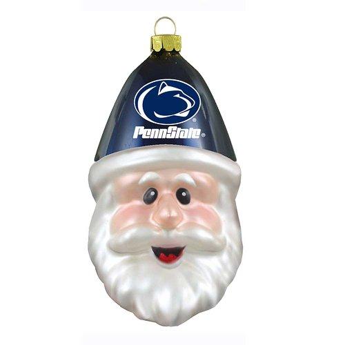 Boelter Brands NCAA Penn State Nittany Lions Blown Glass Santa Cap Ornament