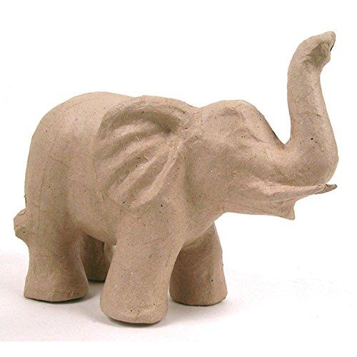 décopatch Mache Elephant with Tusks, 21 x 12 x 17 cm, Brown