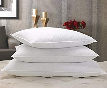 Marriott Feather & Down Pillow - Dual Chamber Pillow Feather and Down Pillow - Set of 2 - King  20  x 36
