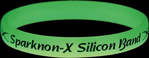 『スパークノンX シリコンバンド ライト ( 蓄光 ) クリア M』の2枚目の画像