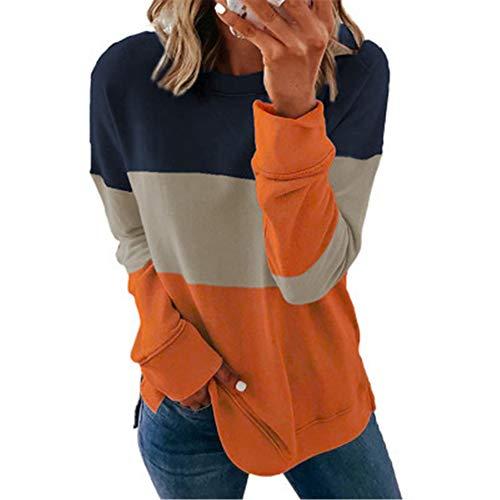 ZFQQ Jersey Suelto de Manga Larga con Estampado Tie-Dye para Mujer de otoño e Invierno