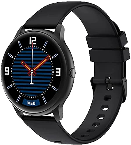 KW66 Reloj Inteligente Fitness Tracker Monitor de Ritmo Cardíaco Pantalla Monitor de Sueño para IOS Android-Negro