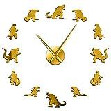 adesivo da parete orologio 3d fai da te orologio da parete grande senza cornice camera dei bambini gigante decorazione da parete orologio orologio effetto specchio sticker-27_inch