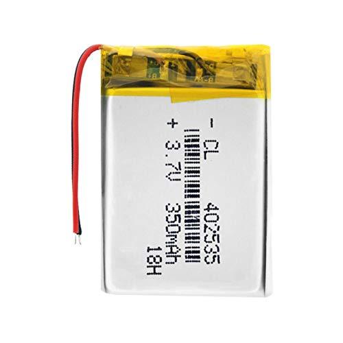 ndegdgswg 3.7v 350mah 402535 baterías recargables del polímero de litio, batería Li-Po con el módulo del PWB Li-Ion batería 1piece