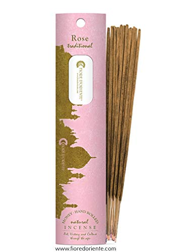 Fiore D 'oriente rosa incense100% Natural 10 palos