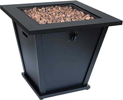 Bond Manufacturing 51843 28in Olivera Fire Table, Black