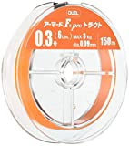 DUEL(デュエル) PEライン 0.3号 アーマード F+ Pro トラウト 150M 0.3号 オレンジ トラウト・管釣 H4114