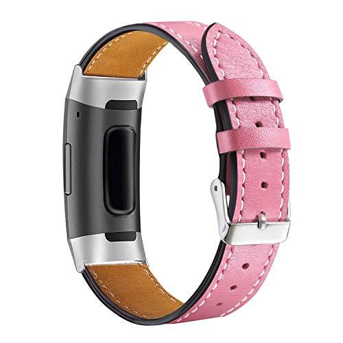 Aottom Cuero Correa Compatible con Fitbit Charge 4 /Correa Fitbit Charge 3, Fitbit Smart Watch Correa Ajustable Correas de Recambio Correa Fitbit Charge 4 Pulseras Pulsera Banda de Actividad Física