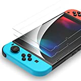 Syncwire Screen Protector for Nintendo Switch Tempered Glass [2 Pack] Transparent HD Clear Screen Protector for Nindendo Switch [Anti-Scratch, Anti-Fingerprint, Shatterproof, Bubble-Free]