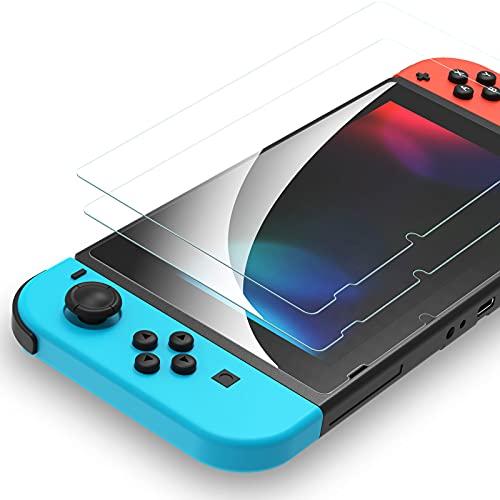 「2枚入り」 Syncwire Nintendo Switch 保護フィルム 【 日本旭硝子製 】 スイッチ 保護フィルム硬度9H 指...
