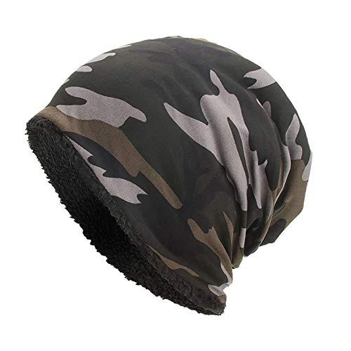 GUANGYING Warme Winterhüte Für Frauen Männer Tarnmuster Skullies Beanie Cap Casual...