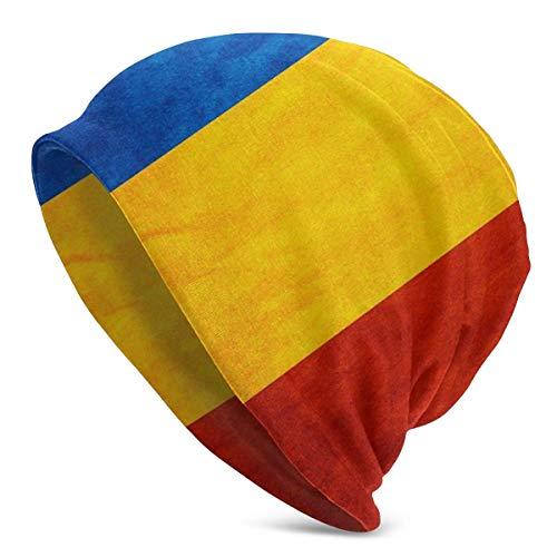 Gorros de Punto para Mujer para Hombre Sombreros Raya Vintage Bandera de Rumania Gorras de Invierno clidas para Adultos
