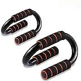 WeyTy 2 barra di supporto push-up maniglie sportive per spalle forti / braccia / schiena / muscoli addominali per uomo e donna, contiene 180 kg, nero 1