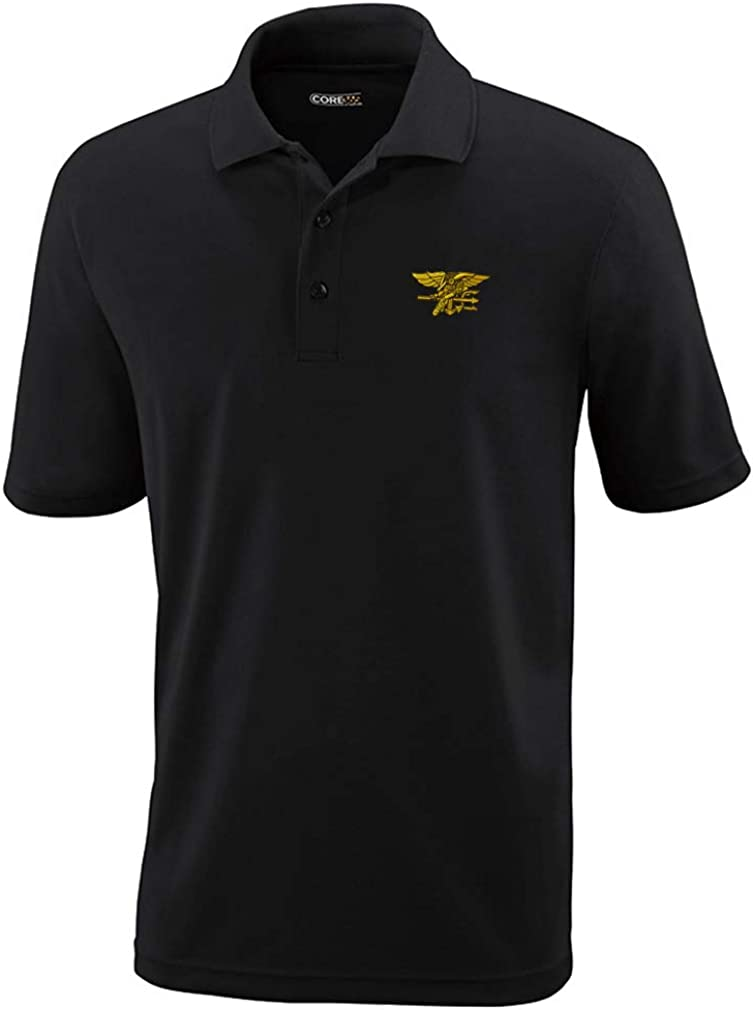 Daily bargain Regular store sale Polo Performance Shirt U.S. Navy Seal Design Embroidery Polyeste