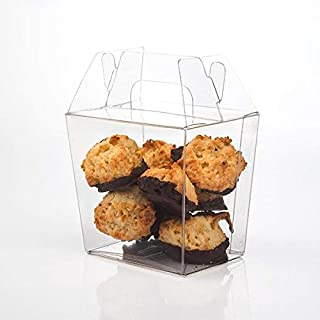 Upscale Gable Style Clear Take-Out Box | 25 Quantity | Small - Size: 3 7/16