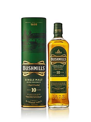 Bushmills 10 Years Old Single Malt Irish Whiskey ( 1 x 0,7 l) - dreifach destillierter 100{2dc6fa530960b298f8d4e2e83a1477b62a78a1a9973d5b8b54745ffa491a84b7} Malt Whisky mit edler Geschenkverpackung