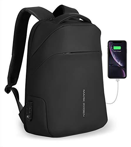 MARK RYDEN Mochila antirrobo con Mochila TSA Lock para portátil de 15.6 Pulgadas con Impermeable para la Escuela de Viajes