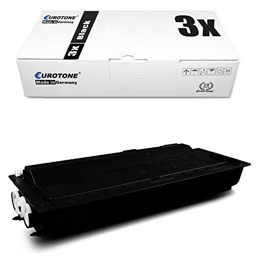 3x Eurotone Cartuccia Toner per Kyocera KM 1620 1635 1650 2020 2035 2050 S F J sostituisce 370AM010 TK410