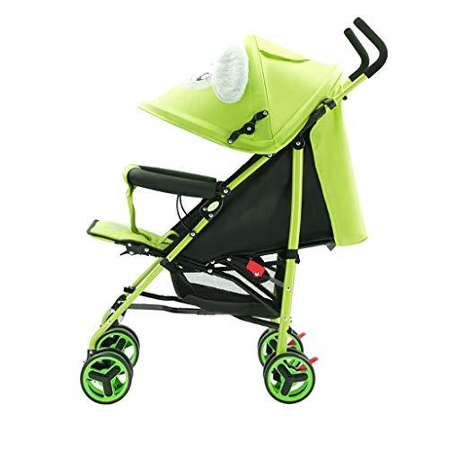 BLWX - Portable Poussette Ultra Léger Portable Peut Se Reposer Lie Poussette Enfant Choc Chariot Poussette Pliable Bébé Voiture Poussette (Couleur : Green)