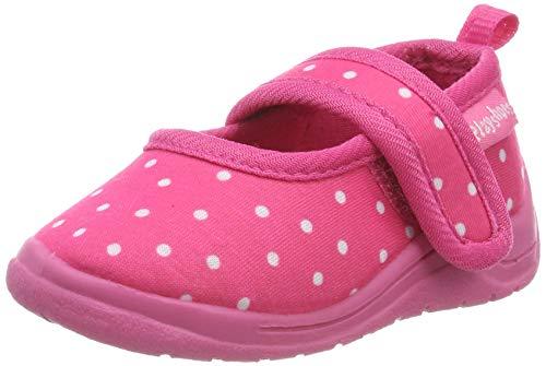 Playshoes Zapatillas Puntos, Pantuflas para Niñas, Rosa (Pink 18), 24/25 EU