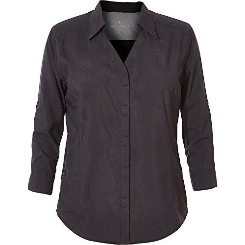 Royal Robbins Manches 3/4 Expedition Dry Stretch pour Femme, Noir de Jais, Taille S