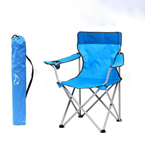 MUTANG Ultraleicht Zurück Stuhl Familie Liege Klappstuhl Esszimmerstuhl Outdoor Tragbare Angeln Stuhl Strandkorb Rot Blau (Farbe : Blau)