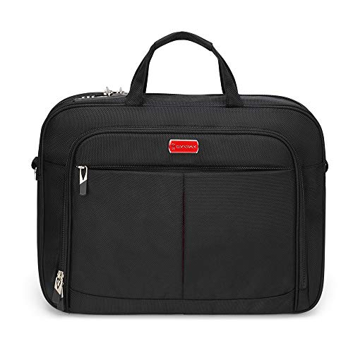 Omnpak ビジネスバック リクルートバック pcバッグ 15.6インチ 鍵付きバック 2WAY(ショルダー+手提げ) 入れ可能 A4サイズ収納でき 面接 通勤 就 活 バッグ (ブラック)