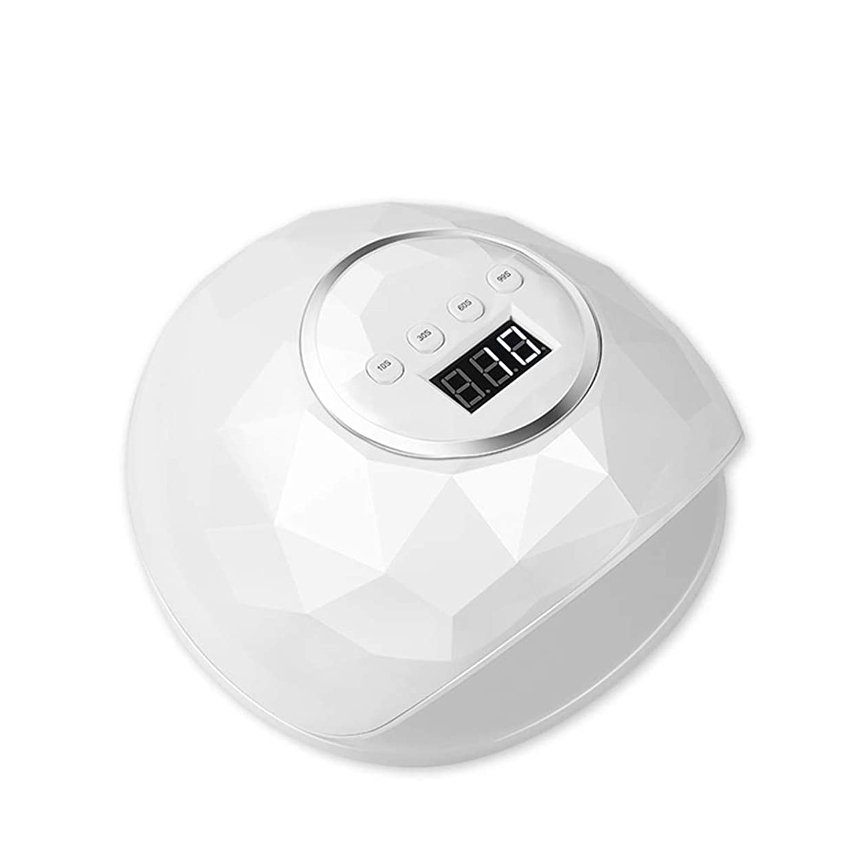 アラーム評価する引っ張る89Wハイパワーネイルランプ/ネイルドライヤー-39ランプビーズ/デュアル光源/スマートセンサー - ホワイト/ピンク - 4タイミング