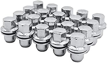 Venum wheel accessories 20 Pc Chrome OEM Factory Replacement Mag Lug Nuts with Washer M14x1.5 Thread Pitch Works with Range Rover OEM Wheels Only