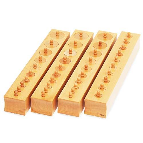 【MONTE Kids】モンテッソーリ教具 -- シリンダー 円柱さし 大 -- Montessori 知育玩具教具 幼児早期教育 モンテキッズ 本格教材 算数 おもちゃ モンテッソーリ教具 -- シリンダー 円柱さし 大 教材用