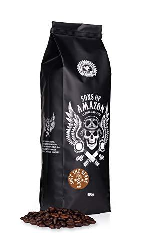 Sons of Amazon, Dark Roast Coffee Beans (Just The Beans) - 500g - Australia's Strongest Coffee (Arabica + Robusta) - Rainforest Alliance Certified
