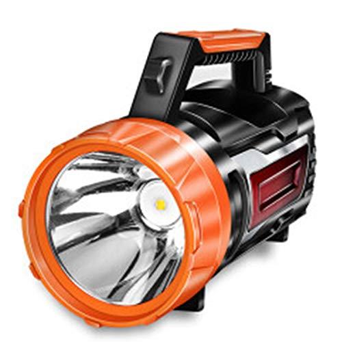 Linterna de manivela de manivela LED 1500W RECARGABLE FUERTE LIGHT 3000M Super brillante Control remoto al aire libre 5000 Xenon Búsqueda portátil (Amarillo) Getrichar