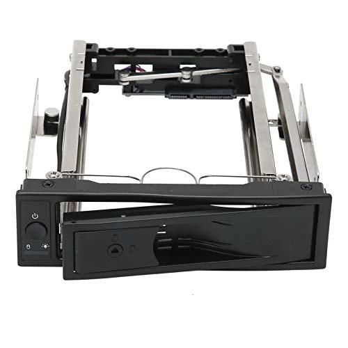 Caja de extracción de Caja de Disco Duro, Soporte de Unidad de Estado Conveniente con el diseño de Enlace de Puerta para Discos Duros SATA de 3,5 Pulgadas