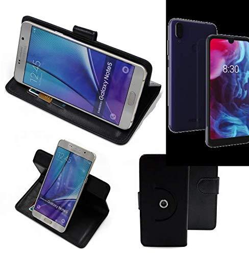 K-S-Trade Handy Hülle Für Archos Oxygen 57 Flipcase Smartphone Cover Handy Schutz Bookstyle Schwarz (1x)