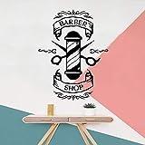 yaonuli Peluquería de Dibujos Animados Etiqueta de Vinilo de protección del Medio Ambiente decoración del hogar Impermeable Etiqueta de la Pared 30X39cm